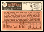 1966 Topps #582 ERR Garry Roggenburk  Back Thumbnail