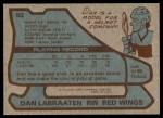 1979 Topps #92  Dan Labraaten  Back Thumbnail