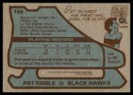 1979 Topps #199  Pat Ribble  Back Thumbnail