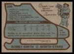 1979 Topps #206  Bobby Smith  Back Thumbnail