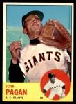 1963 Topps #545  Jose Pagan  Front Thumbnail