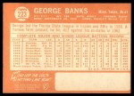 1964 Topps #223  George Banks  Back Thumbnail
