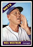 1966 Topps #341  Wes Westrum  Front Thumbnail
