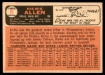 1966 Topps #80  Rich Allen  Back Thumbnail