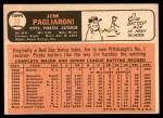 1966 Topps #33  Jim Pagliaroni  Back Thumbnail