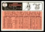1966 Topps #501  John O'Donoghue  Back Thumbnail