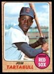 1968 Topps #555  Jose Tartabull  Front Thumbnail