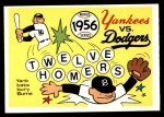 1970 Fleer World Series #53   1956 Yankees vs. Dodgers Front Thumbnail