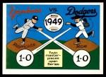 1970 Fleer World Series #46   -  Allie Reynolds  / Preacher Roe 1949 Yankees vs. Dodgers   Front Thumbnail