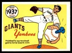 1970 Fleer World Series #34   -  Carl Hubbell 1937 Yankees vs. Giants   Front Thumbnail