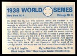 1970 Fleer World Series #35   -  Lou Gehrig 1938 Yankees vs. Cubs   Back Thumbnail