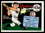 1970 Fleer World Series #35   -  Lou Gehrig 1938 Yankees vs. Cubs   Front Thumbnail