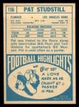 1968 Topps #156  Pat Studstill  Back Thumbnail