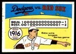 1970 Fleer World Series #13   -  Babe Ruth 1916 Red Sox vs. Dodgers   Front Thumbnail
