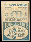 1968 Topps #203  Randy Johnson  Back Thumbnail