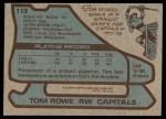 1979 Topps #113  Tom Rowe  Back Thumbnail