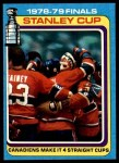 1979 Topps #83   Stanley Cup Finals - Canadiens Make it 4 Straight Cups Front Thumbnail