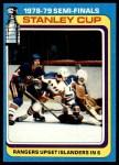 1979 Topps #82   Stanley Cup Semi-Finals - Rangers Upset Islanders in 6 Front Thumbnail