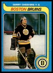 1979 Topps #85  Gerry Cheevers  Front Thumbnail