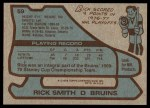 1979 Topps #59  Rick Smith  Back Thumbnail