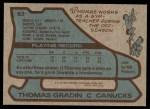 1979 Topps #53  Thomas Gradin  Back Thumbnail