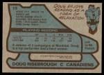 1979 Topps #13  Doug Risebrough  Back Thumbnail