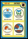 1979 Topps #261   New NHL Entries - Edmonton Oilers / Hartford Whalers / Quebec Nordiques / Winnipeg Jets Front Thumbnail