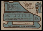 1979 Topps #177  Tom Younghans  Back Thumbnail