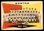 1960 Topps #537   Red Sox Team Checklist Front Thumbnail