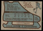 1979 Topps #112  Doug Jarvis  Back Thumbnail