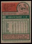1975 Topps #174  Bake McBride  Back Thumbnail