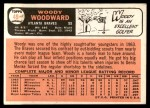 1966 Topps #49  Woody Woodward  Back Thumbnail