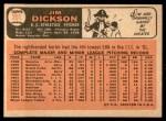 1966 Topps #201  Jim Dickson  Back Thumbnail