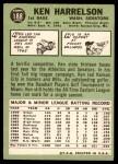 1967 Topps #188  Ken Harrelson  Back Thumbnail