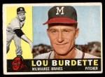 1960 Topps #70  Lew Burdette  Front Thumbnail