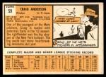 1963 Topps #59  Craig Anderson  Back Thumbnail
