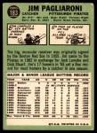 1967 Topps #183  Jim Pagliaroni  Back Thumbnail