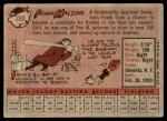 1958 Topps #260  Frank Malzone  Back Thumbnail
