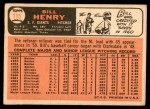 1966 Topps #115  Bill Henry  Back Thumbnail