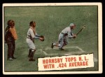 1961 Topps #404   -  Rogers Hornsby Tops NL With .424 Average Front Thumbnail