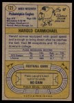 1974 Topps #121   -  Harold Carmichael All-Pro Back Thumbnail