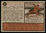 1962 Topps #68  Ken L. Hunt  Back Thumbnail