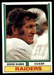 1974 Topps #245  George Blanda  Front Thumbnail