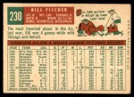 1959 Topps #230  Bill Fischer  Back Thumbnail