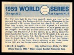 1970 Fleer World Series #56   -  Chuck Essegian 1959 Dodgers vs. White Sox   Back Thumbnail