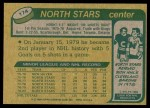 1980 Topps #174  Tim Young  Back Thumbnail