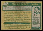 1980 Topps #179  Laurie Boschman  Back Thumbnail