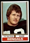 1974 Topps #9 ONE Pat Matson  Front Thumbnail