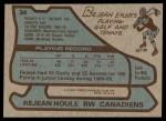 1979 Topps #34  Rejean Houle  Back Thumbnail