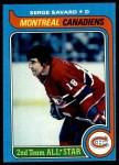 1979 Topps #101  Serge Savard  Front Thumbnail